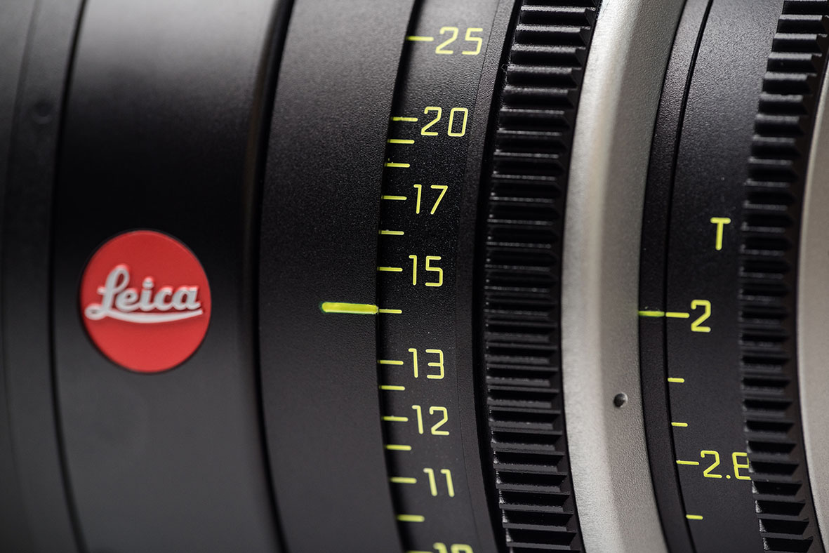 180mm Leica Cine T2 focus scale
