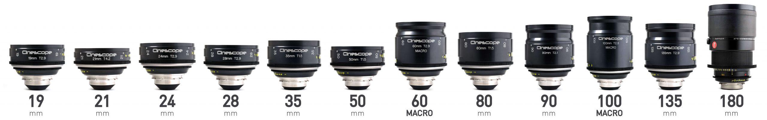 Leica R TLS Cinescope full frame lenses