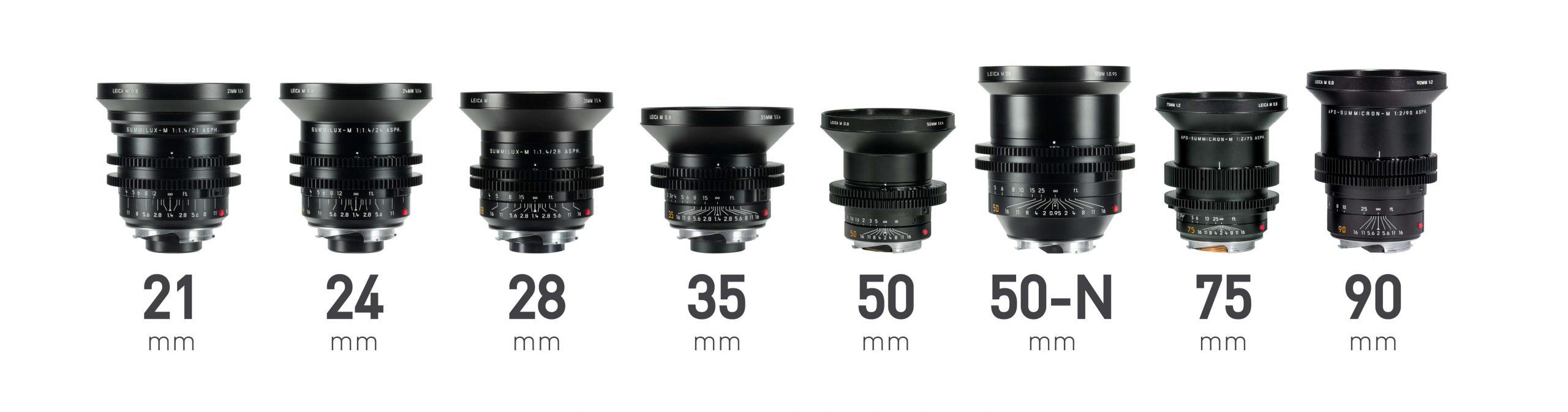 Leica M 0.8 full frame lenses