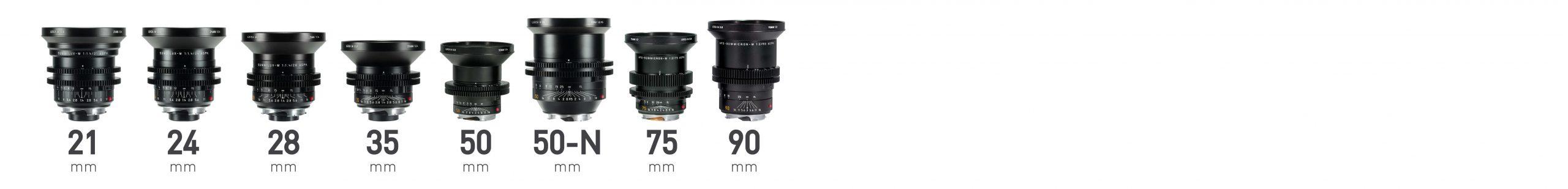 Leica M0.8 full frame lenses
