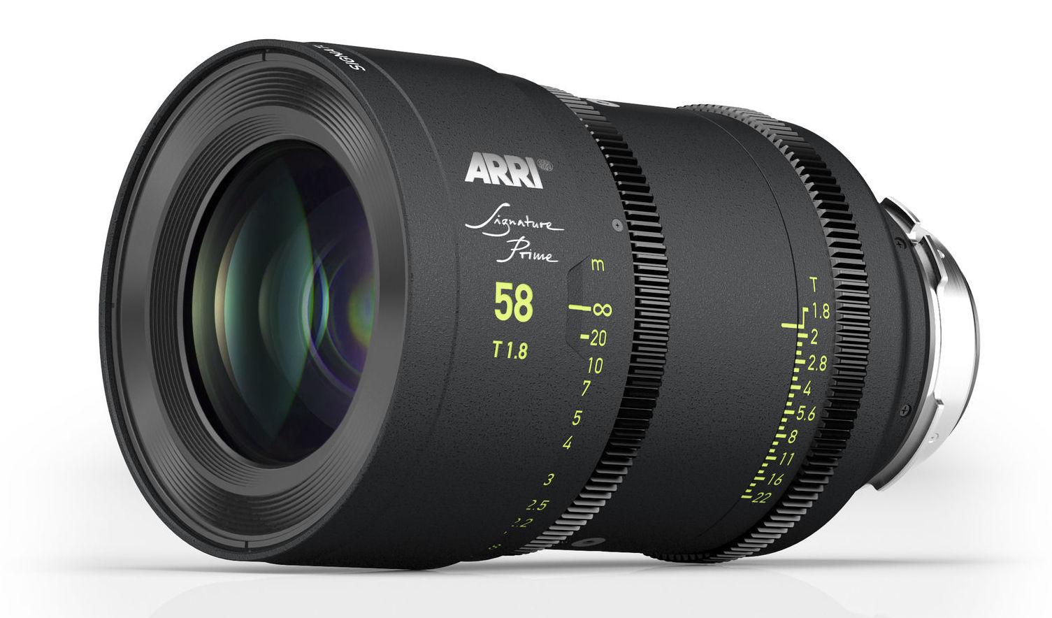 Arri Signature Prime lens 58mm