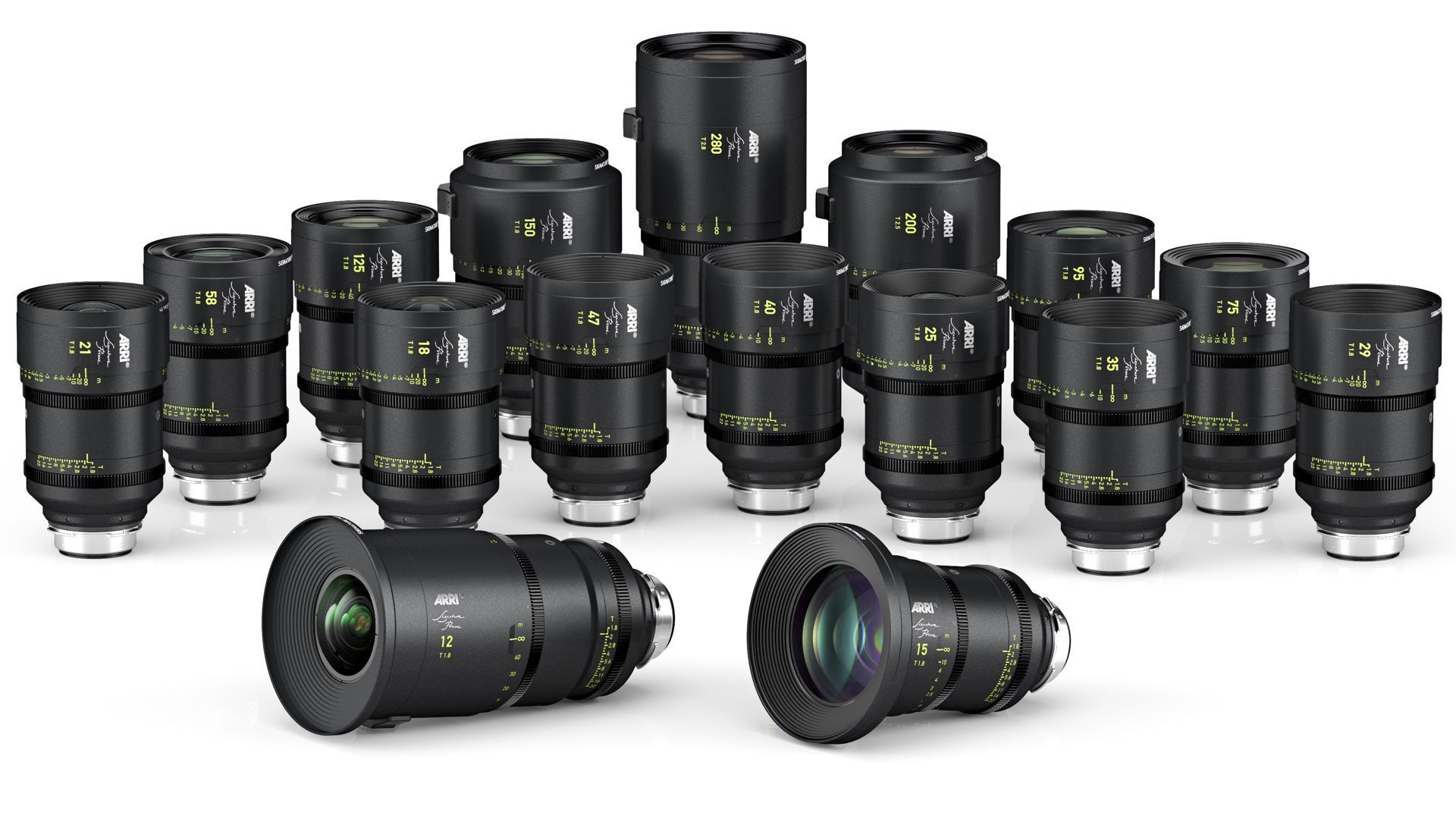 Arri Signature Prime full frame lenses