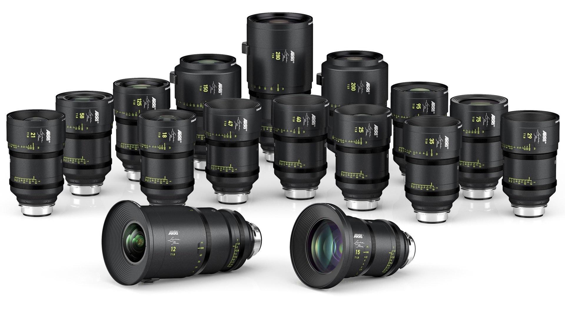 Arri Signature Prime full frame lenses