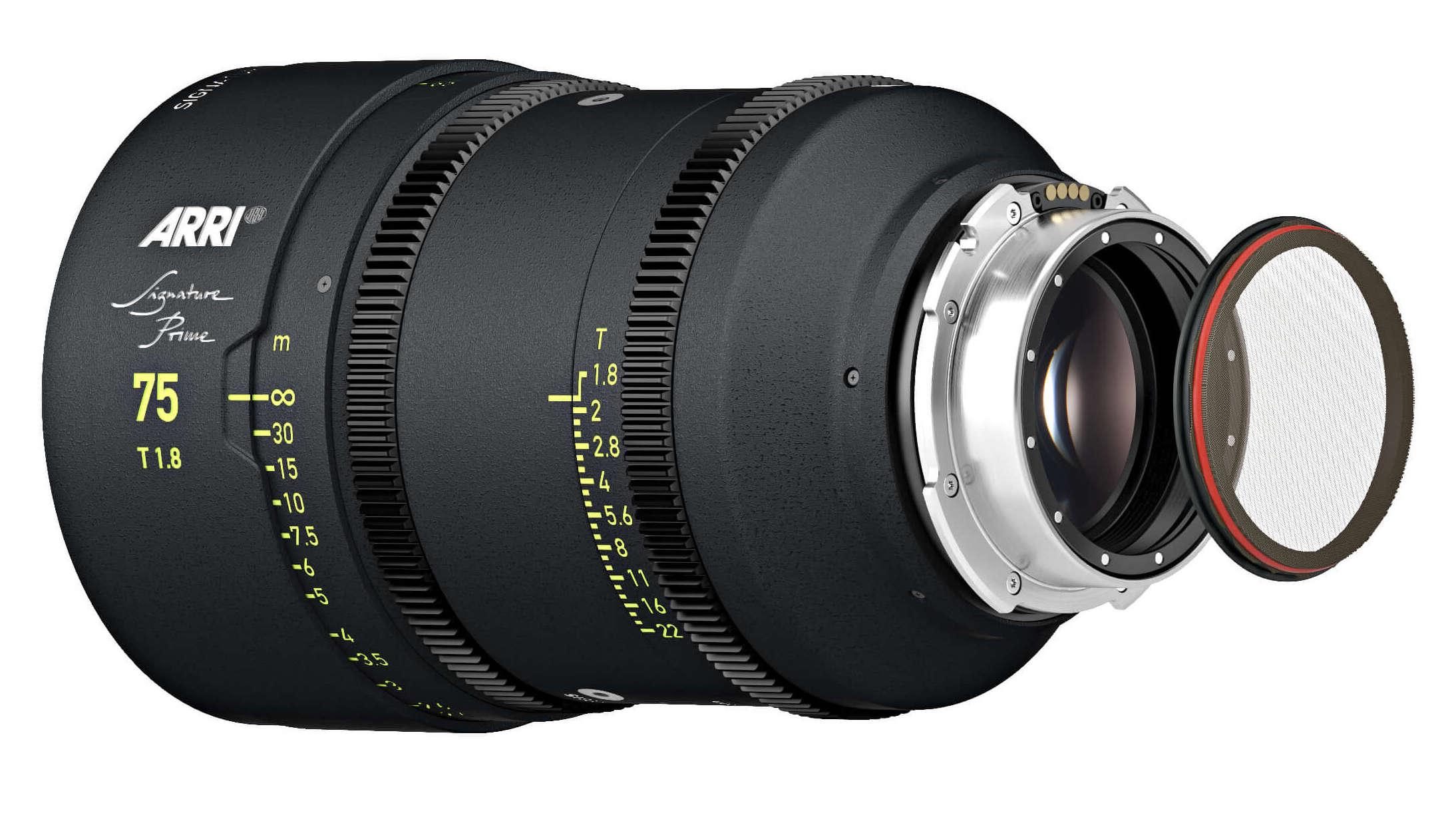 Arri Signature Prime lens 75mm net holder