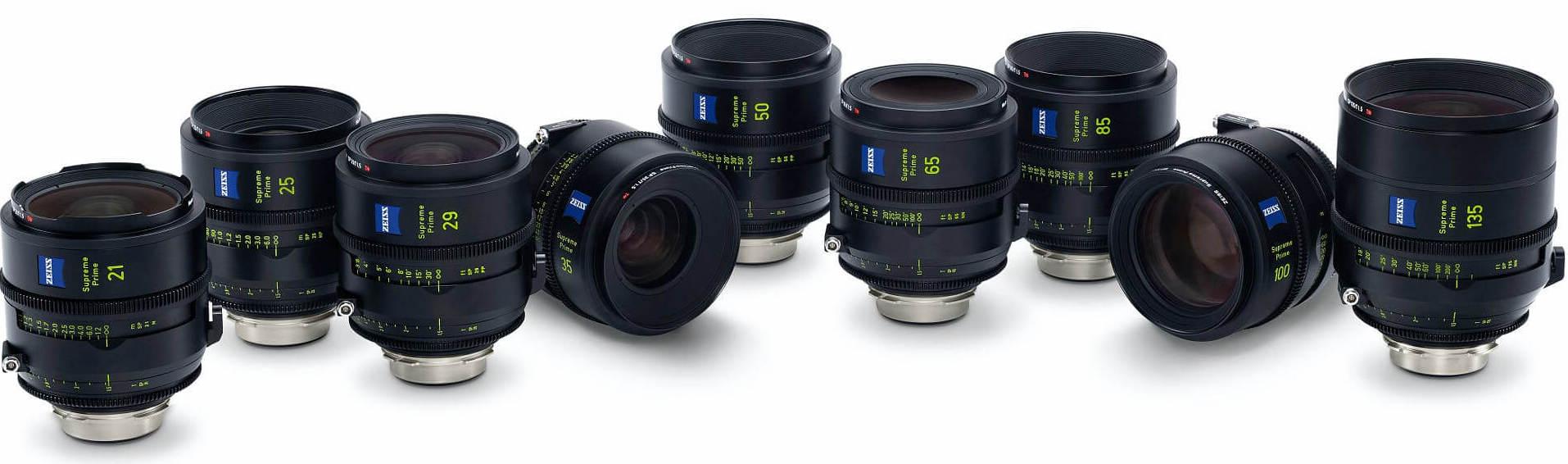 Zeiss Supreme Prime full frame lenses